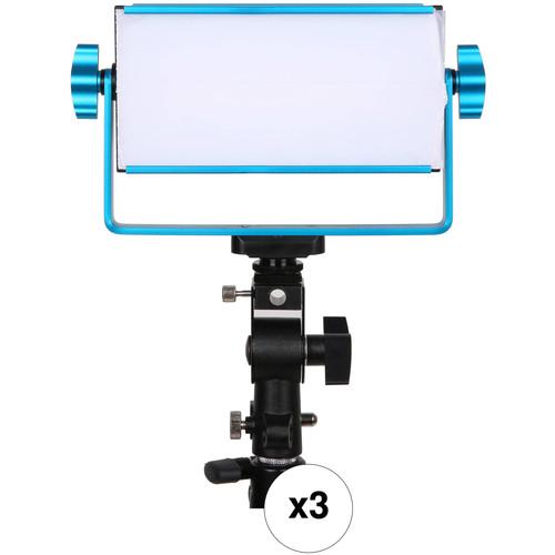 Dracast LED1000 Tulva Bi-Color LED Flood 3-Light Kit