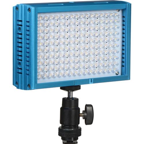 Dracast LED160 3200-5600K Variable Color On-Camera Light Aluminum Blue