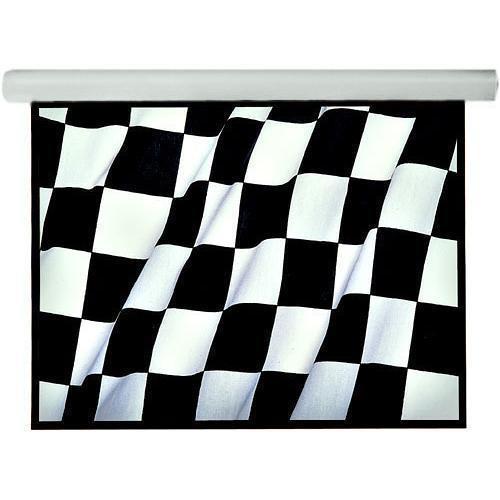 "Draper 108219ENL 96 x 96"" Silhouette/Series E Electric Wall/Ceiling Screen with LVC (110-120 VAC)"