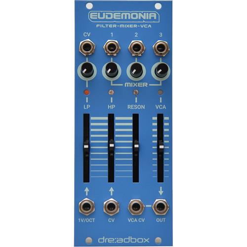 Dreadbox Chromatic Eudemonia Eurorack Dual Filter with 3 to 1 Mixer and VCA Module (10hp)