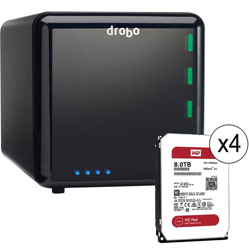 Drobo 32TB (4 x 8TB) 4-Bay USB 3.0 Storage Array Kit