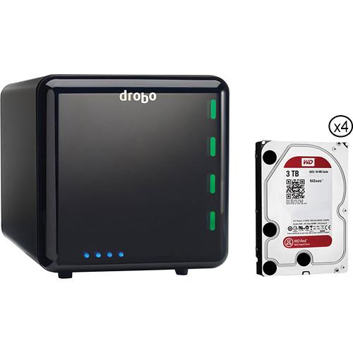 Drobo 12TB (4 x 3TB) 4-Bay USB 3.1 Gen 1 Storage Array Kit