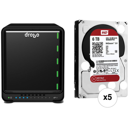 Drobo 5D 30TB 5-Bay Professional Storage Array Kit with Drives (5 x 6TB)
