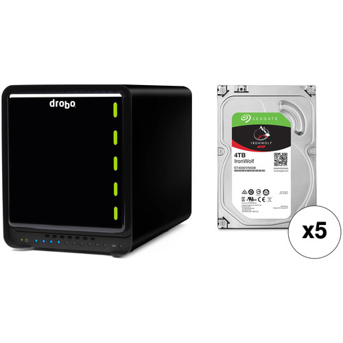 Drobo 5Dt 20TB 5-Bay Thunderbolt 2 Enclosure Kit with Seagate NAS Drives (5 x 4TB)