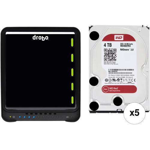 Drobo 5N2 20TB 5-Bay NAS Enclosure Kit with WD NAS Drives (5 x 4TB)