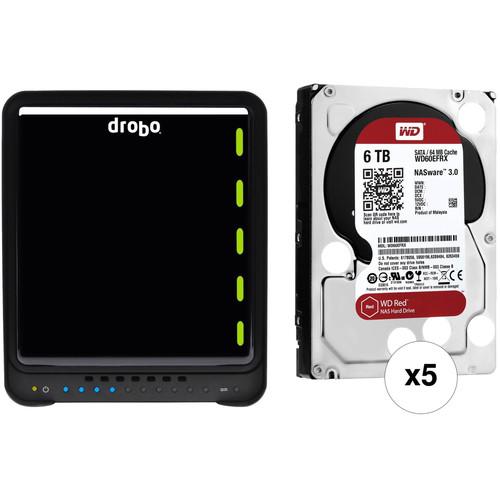 Drobo 5N2 30TB 5-Bay NAS Enclosure Kit with WD NAS Drives (5 x 6TB)