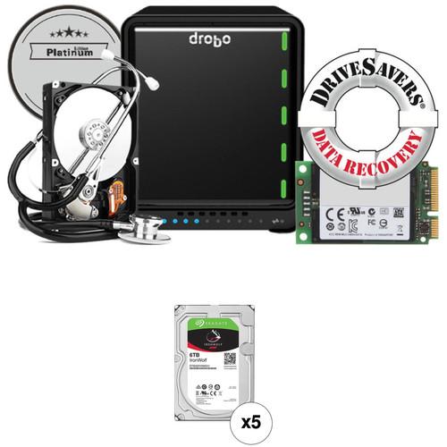 Drobo 5N2 30TB 5-Bay NAS Enclosure Kit (Platinum Edition) with Seagate NAS Drives (5 x 6TB)