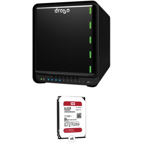 Drobo 5N2 40TB 5-Bay NAS Enclosure Kit with WD NAS Drives (5 x 8TB)