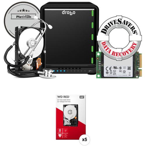 Drobo 5N2 40TB 5-Bay NAS Enclosure Kit (Platinum Edition) with WD NAS Drives (5 x 8TB)