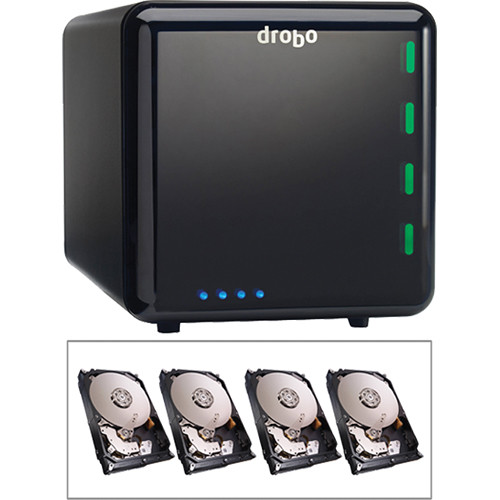 Drobo 8TB (4 x 2TB) 4-Bay USB 3.0 Storage Array Kit with Drives (3rd Generation)