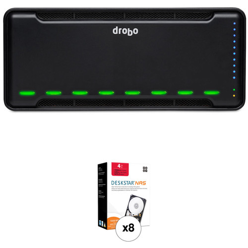 Drobo B810n 32TB 8-Bay NAS Enclosure Kit with HGST NAS Drives (8 x 4TB)