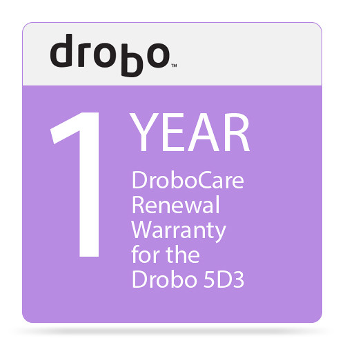 Drobo 1-Year DroboCare Renewal Warranty for the Drobo 5D3