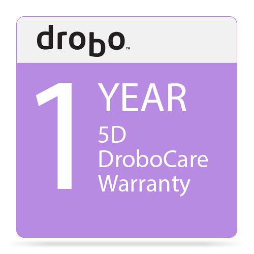 Drobo 1-Year DroboCare Renewal Warranty for the Drobo 5D and 5Dt