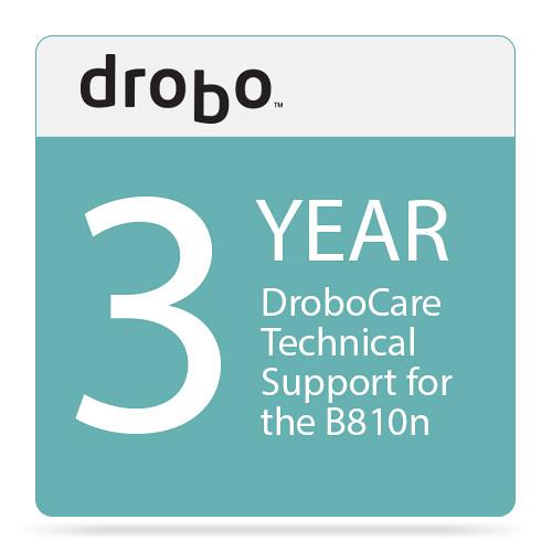 Drobo Three-Year DroboCare Technical Support for Drobo B810n NAS Enclosure