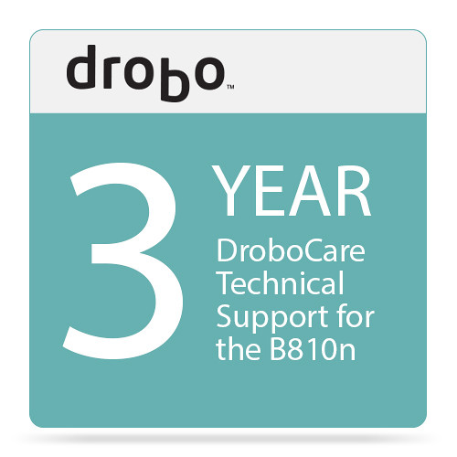 Drobo Three-Year DroboCare Technical Support for Drobo B810n NAS Enclosure