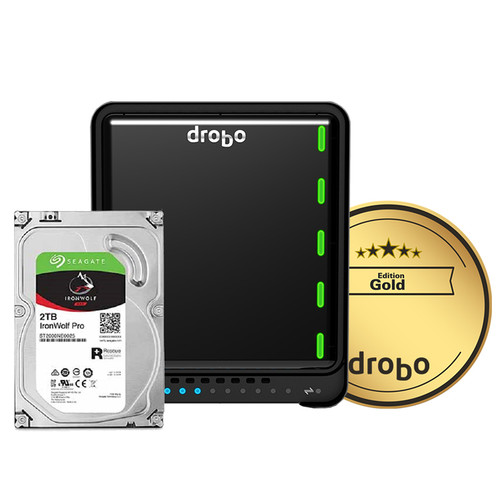 Drobo 5D3 6TB 5-Bay Thunderbolt 3 Array (3 x 2TB, Gold Edition)
