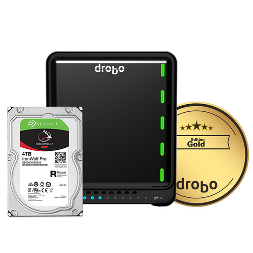 Drobo 5N2 12TB 5-Bay NAS Enclosure (3 x 4TB, Gold Edition)