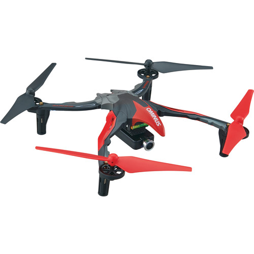 DROMIDA Ominus FPV Quadcopter with Integrated 720p Camera (RTF, Red)