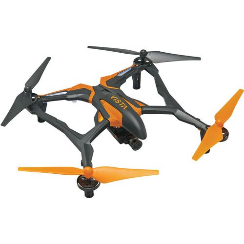 DROMIDA Vista FPV Quadcopter with Integrated 720p Camera (Black/Orange)