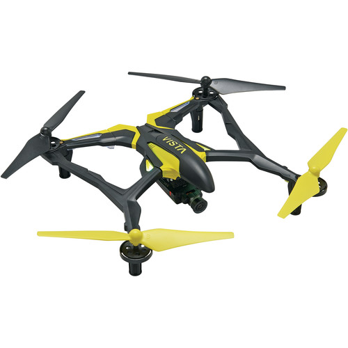 DROMIDA Vista FPV Quadcopter with Integrated 720p Camera (Black/Yellow)