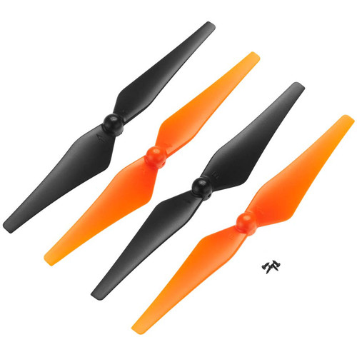 DROMIDA Prop Set for Vista FPV Quadcopter (4-Pack, Orange/Black)
