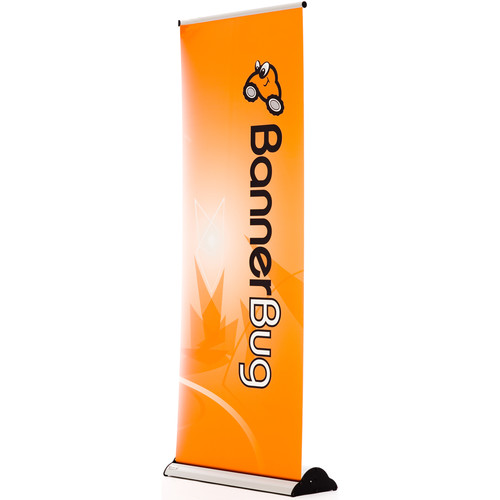"Drytac Single Banner Baby Bug Roll-Up Display (22.81"" x 59.81"", Silver)"