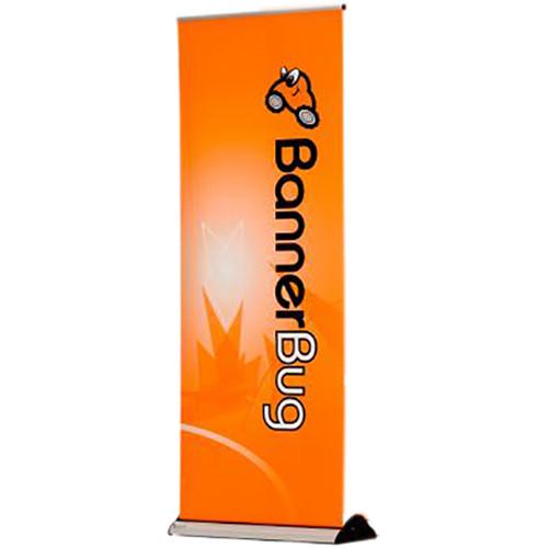 """Drytac Single Banner Desk Bug (8.69"""" x 20"""", Silver)"""