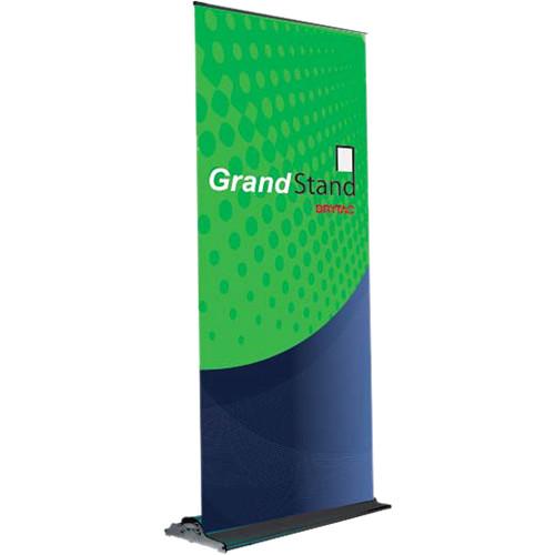 """Drytac GrandStand Mid-Range Roll-Up System (33.5 x 84.75"""", Black)"""