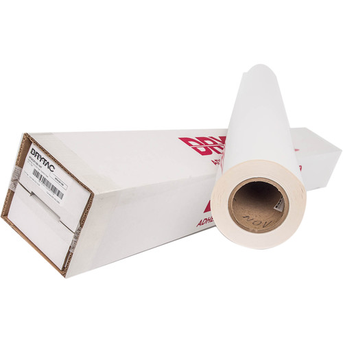 """Drytac MultiTac Pressure-Sensitive Mounting Adhesive (38"""" x 150' Roll, 1 mil, Clear)"""