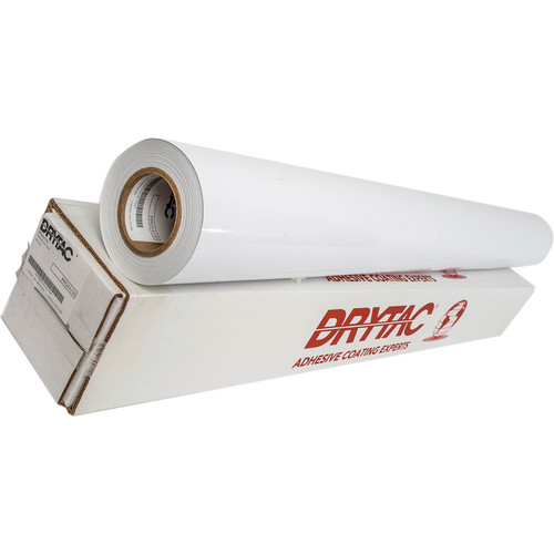 """Drytac Polar Polymeric Gloss with Permanent Gray Adhesive (54"""" x 150' Roll)"""