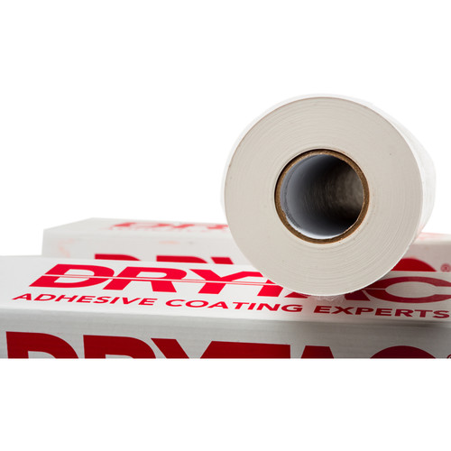 "Drytac SureTac White Pressure-Sensitive Mounting Adhesive (51"" x 300' Roll, 1.1 mil)"