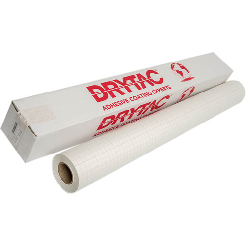 "Drytac TwinTac Pressure-Sensitive Mounting Adhesive (51"" x 150' Roll, 2 mil)"
