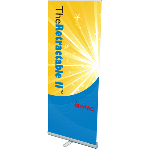 "Drytac Retractable II Roll-Up Single-Sided 33.5"" Banner Stand"