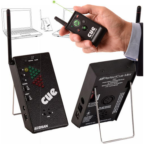 DSAN Corp. PerfectCue Mini with 4-Button Transmitter and Green Laser Pointer