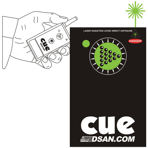 DSAN Corp. PC-AS2-GRN 1-Button Wireless Transmitter with Green Laser for PerfectCue