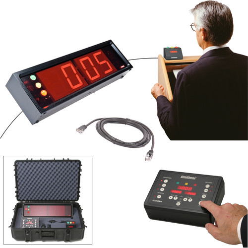 Dsan Limitimer Pro-2000 Professional Staging Kit with Speaker Timer, Audience Signal Light, and Case