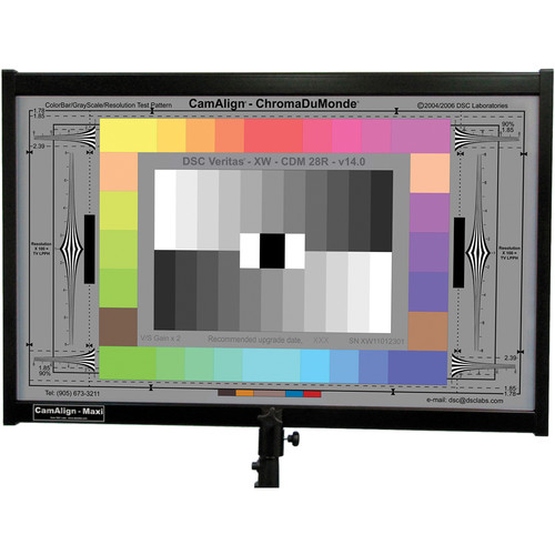 DSC Labs ChromaDuMonde 28-R Maxi CamAlign Chip Chart with Resolution Trumpets and CavityBlack