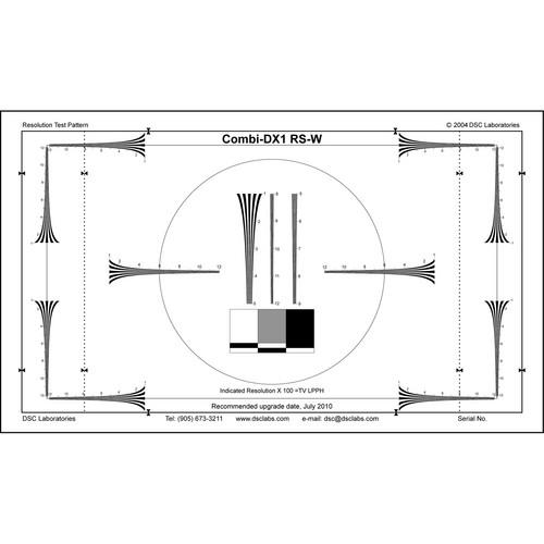 DSC Labs Combi DX-1 16:9 Hyperbolic Resolution Wedges