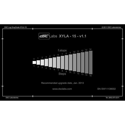"""DSC Labs Xyla 15-Step Grayscale with Built-In LED Light Source (84 dB, 21.3 x 13"""")"""
