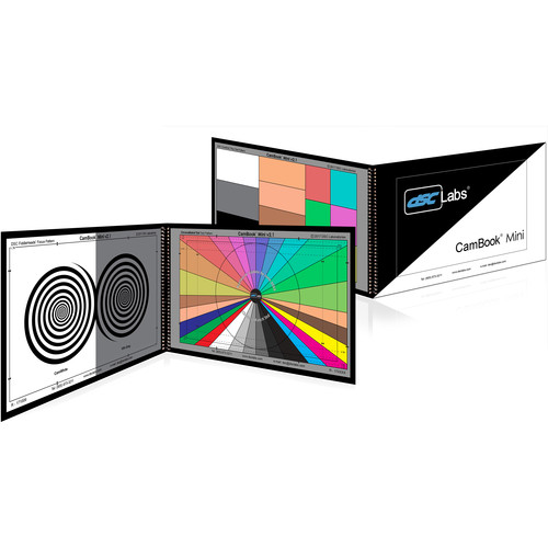 """DSC Labs CamBook Mini ChromaMatch Standard with 12 Colors & Digital File (9x5"""")"""