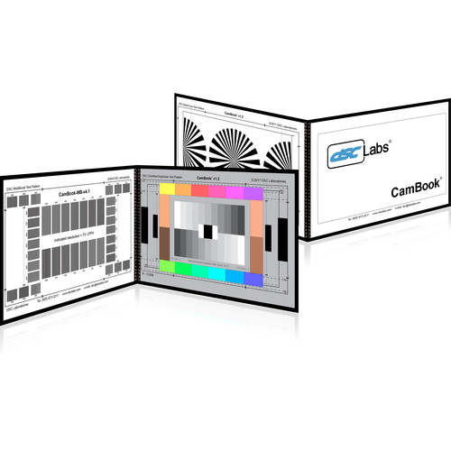 DSC Labs CamBook Calibrating Charts for Vector/Skin Tone/Grayscale/MultiBurst/Back Focus