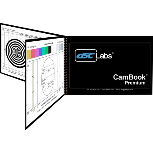 DSC Labs CamBook Premium Charts for ChromaMatch Standard/Skin Tone/Grayscale/Back Focus