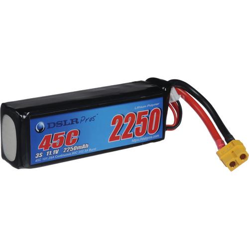DSLRPros 3S 2250mAh LiPo Battery for DJI Phantom Aerial GoPro Rig