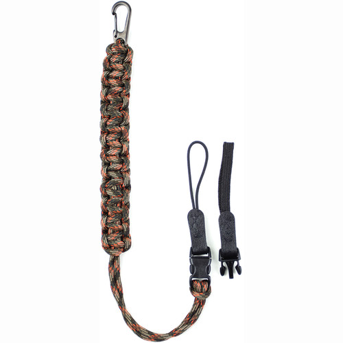 DSPTCH Camera Wrist Strap (Fall Camo with Gunmetal Stainless Steel Clip)