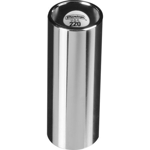 Dunlop 220 Chromed Steel Slide (Medium Length)