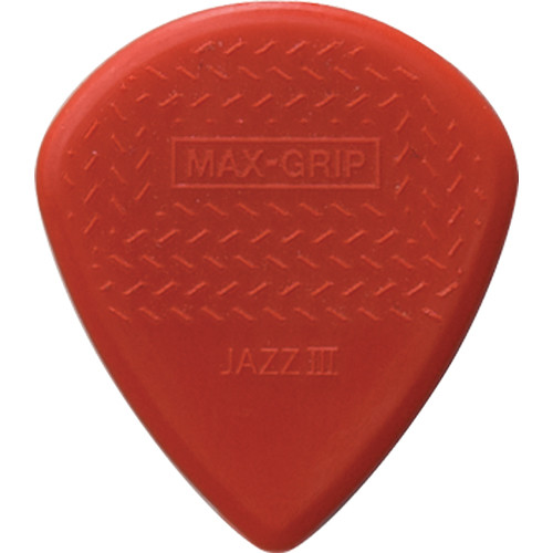 Dunlop 471R3C Max-Grip Jazz III Guitar Pick 24-Pack (Red)