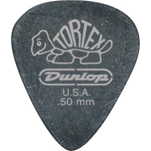 Dunlop 488P.73 Tortex Pitch Black, Players-Pack Guitar Picks (12-Pack)