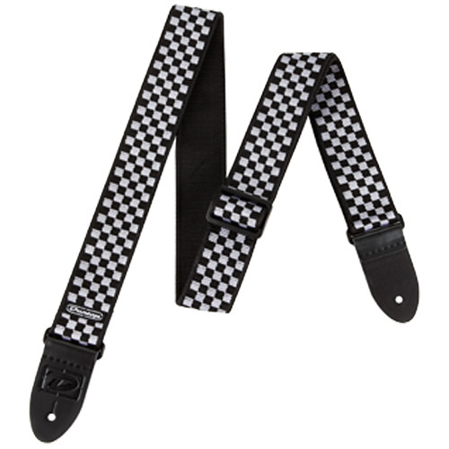 Dunlop D-38 Guitar Strap (Black & White Check)