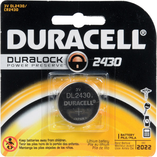 Duracell CR2430 Lithium Battery (3 V, 285 mAh)
