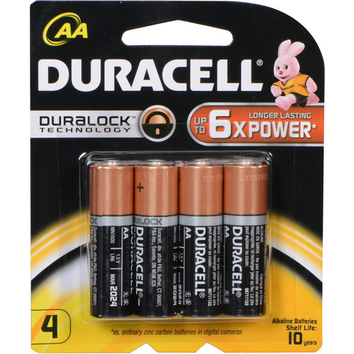 Duracell Duracell 1.5V AA Coppertop Alkaline Batteries (4-Pack)